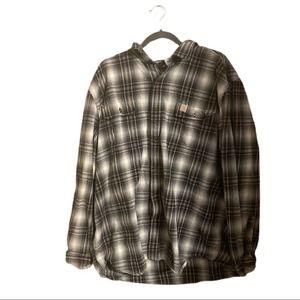 Carhartt Men's Long Sleeve Plaid Flannel Button Down 2XL